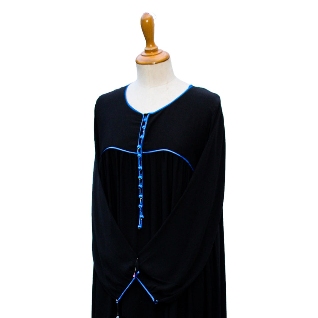 AB00196-Abaya polka yoke piping