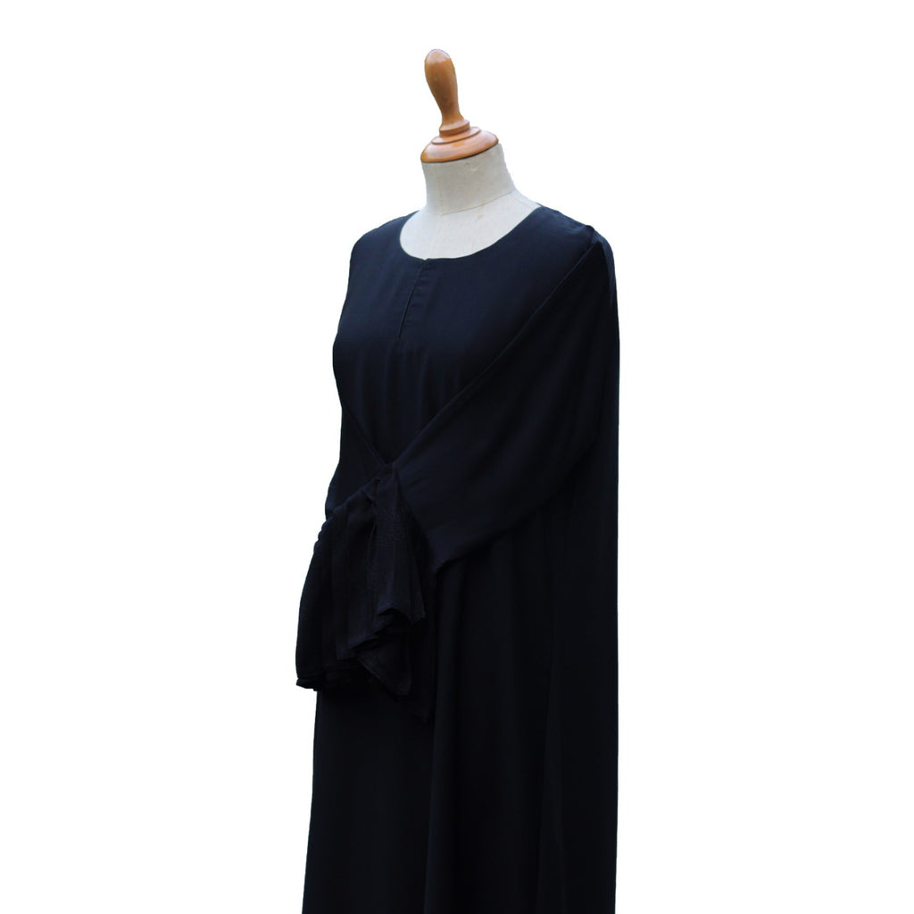 AB01022-Abaya maxi pleatsline self cb
