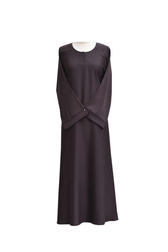AB00134 - Abaya flair maxi plain (s.silk)