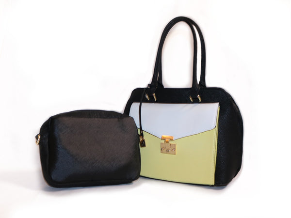 Two faces bag with crossbody bag