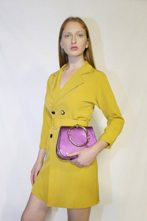 Mustard Suit Jacket with handbag