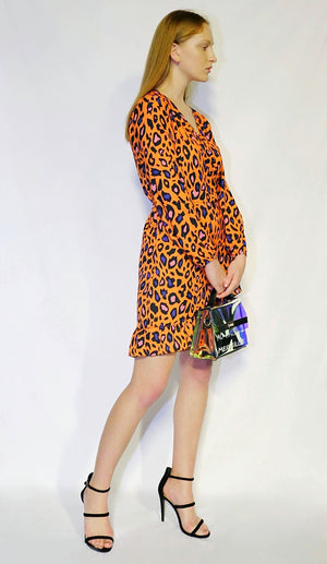 animal print orange dress