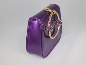 purple vinyl bag