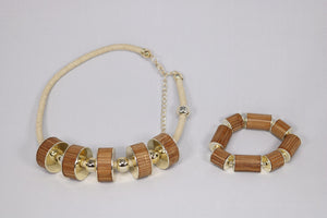 necklace and bamboo bracelet