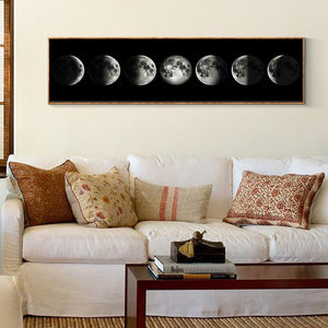 The Moon Eclipse Canvas Poster