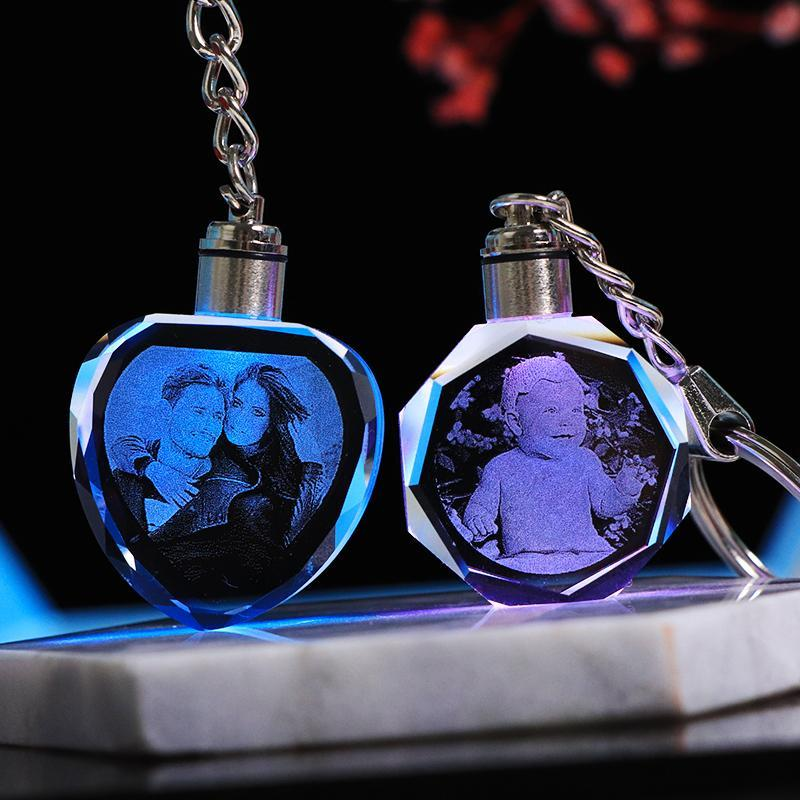 Personalized Engraved Crystal Keychain