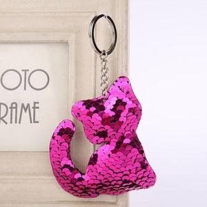 Sequins Glitter Kitten Key-chain
