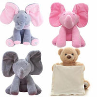 PLAYMATE™ PEEK A BOO ELEPHANT & BEAR STUFFED TOY