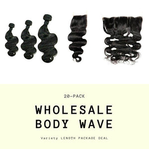 Brazilian Body Wave Variety Length Wholesale Package