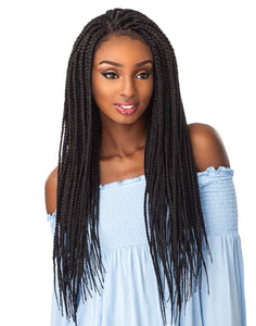 Large Swiss Box Braid Lace Front (Synthetic)