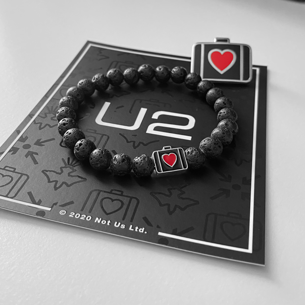 ATYCLB Men's Beaded Bracelet & Pin Set-U2
