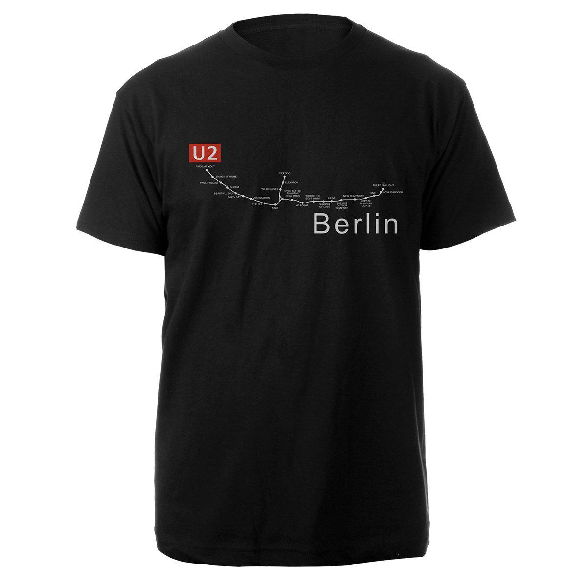 U2 Experience Live In Berlin Black T-shirt