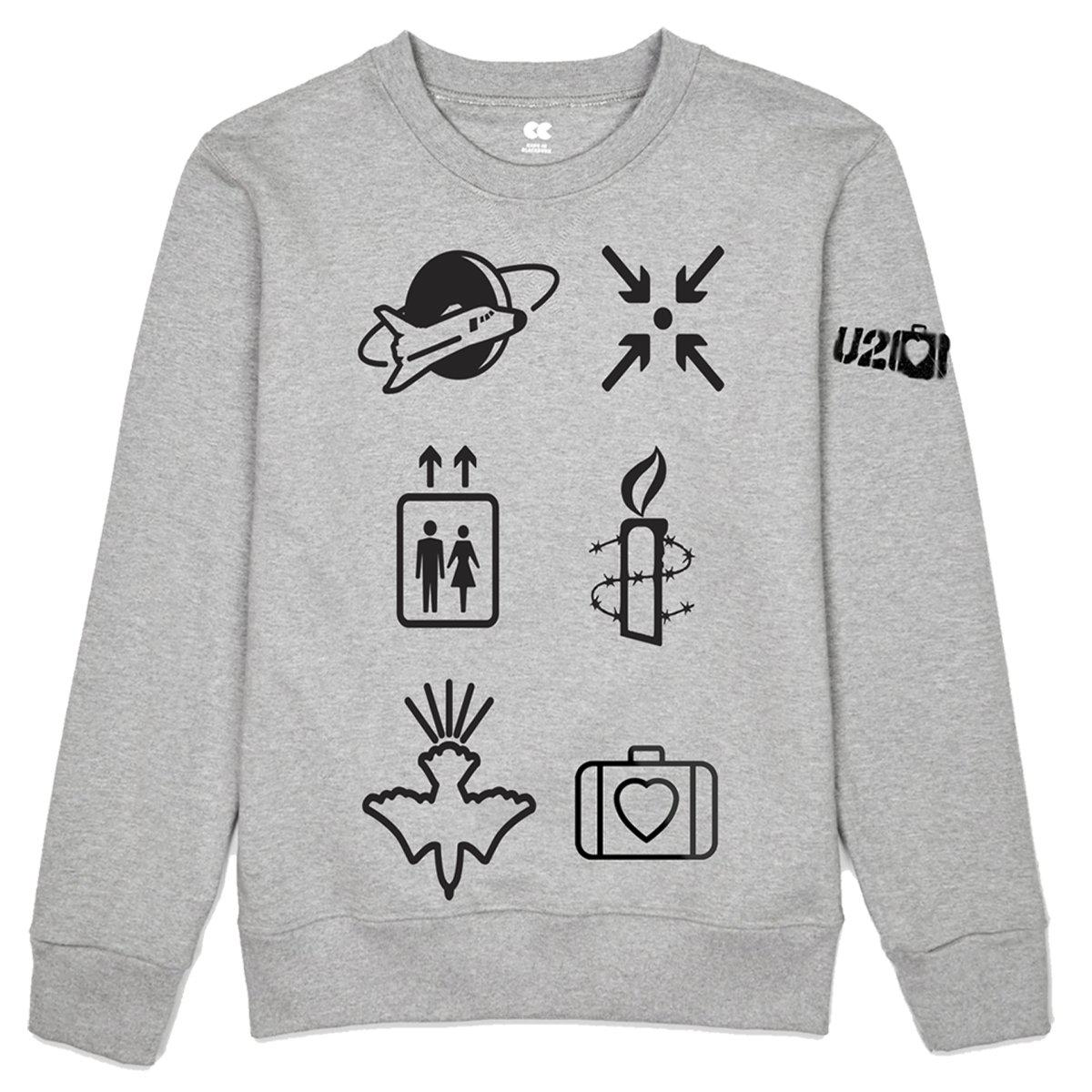Elevation Symbols Grey Crewneck Sweatshirt