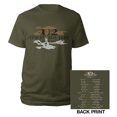 The Joshua Tree North American Tour Logo Green T-Shirt
