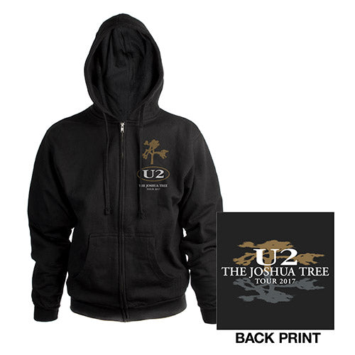 The Joshua Tree Tour Unisex Full Zip Hooded Sweatshirt-U2