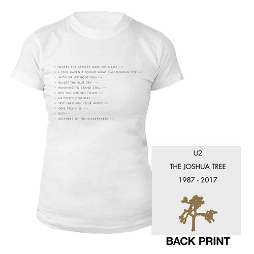 The Joshua Tree Song Titles Women's T-Shirt