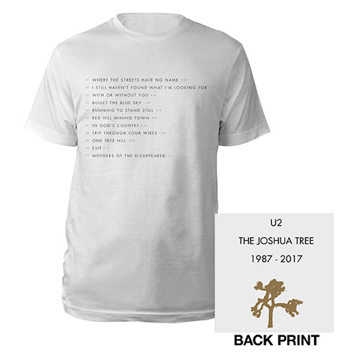 The Joshua Tree Song Titles Men's T-Shirt-U2
