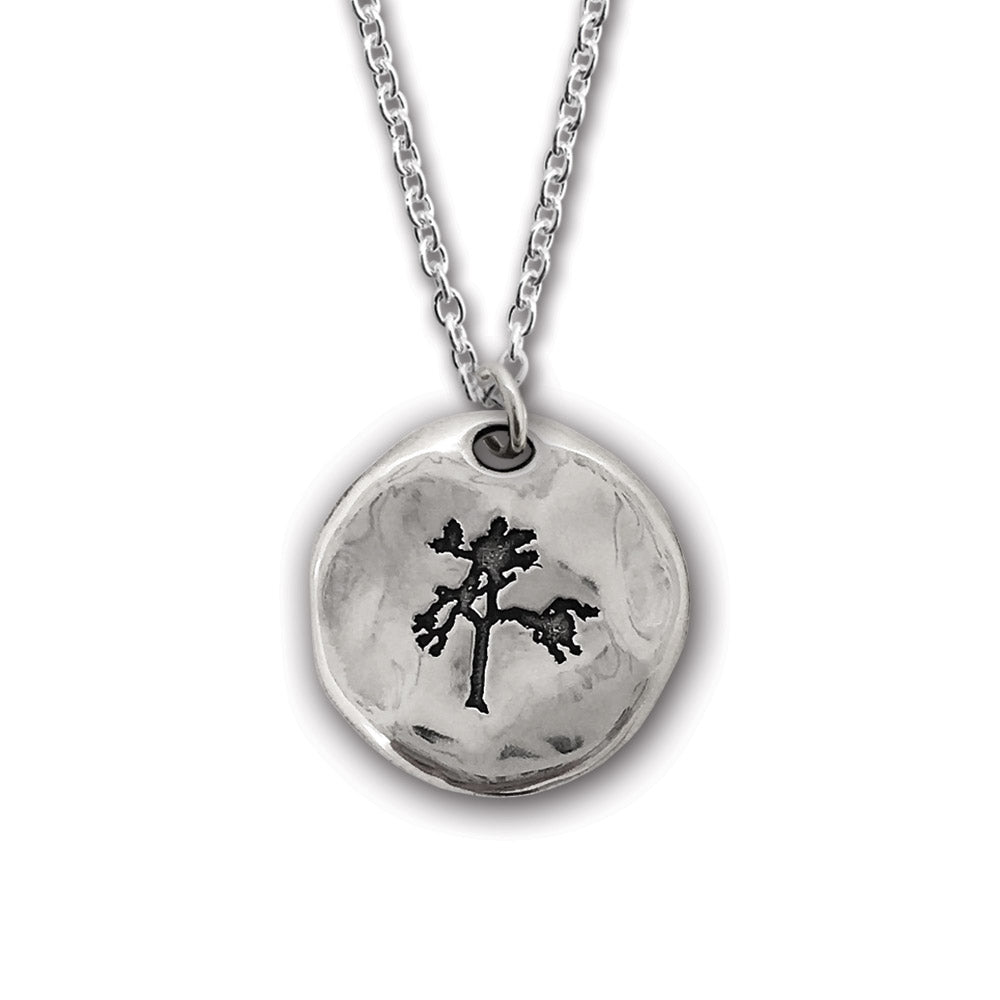 The Joshua Tree Round Silver Pendant