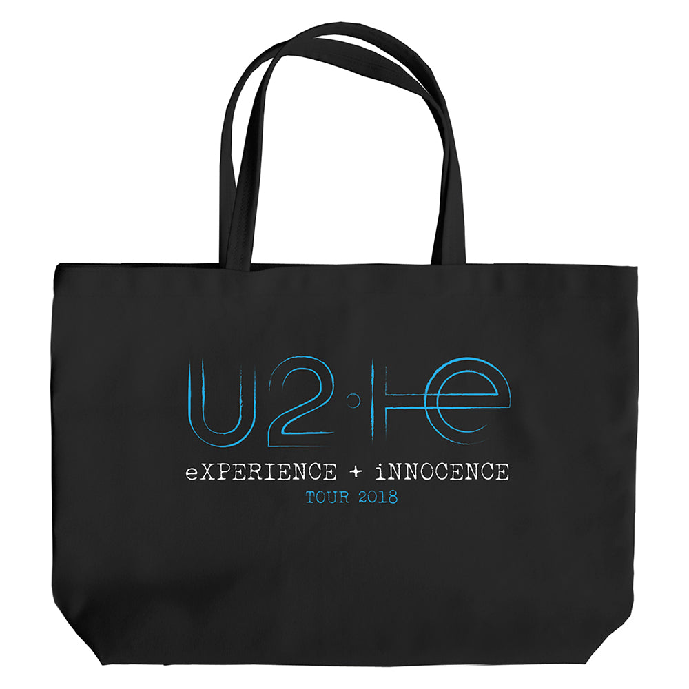 U2 eXPERIENCE + iNNOCENCE Tour Black Tote Bag