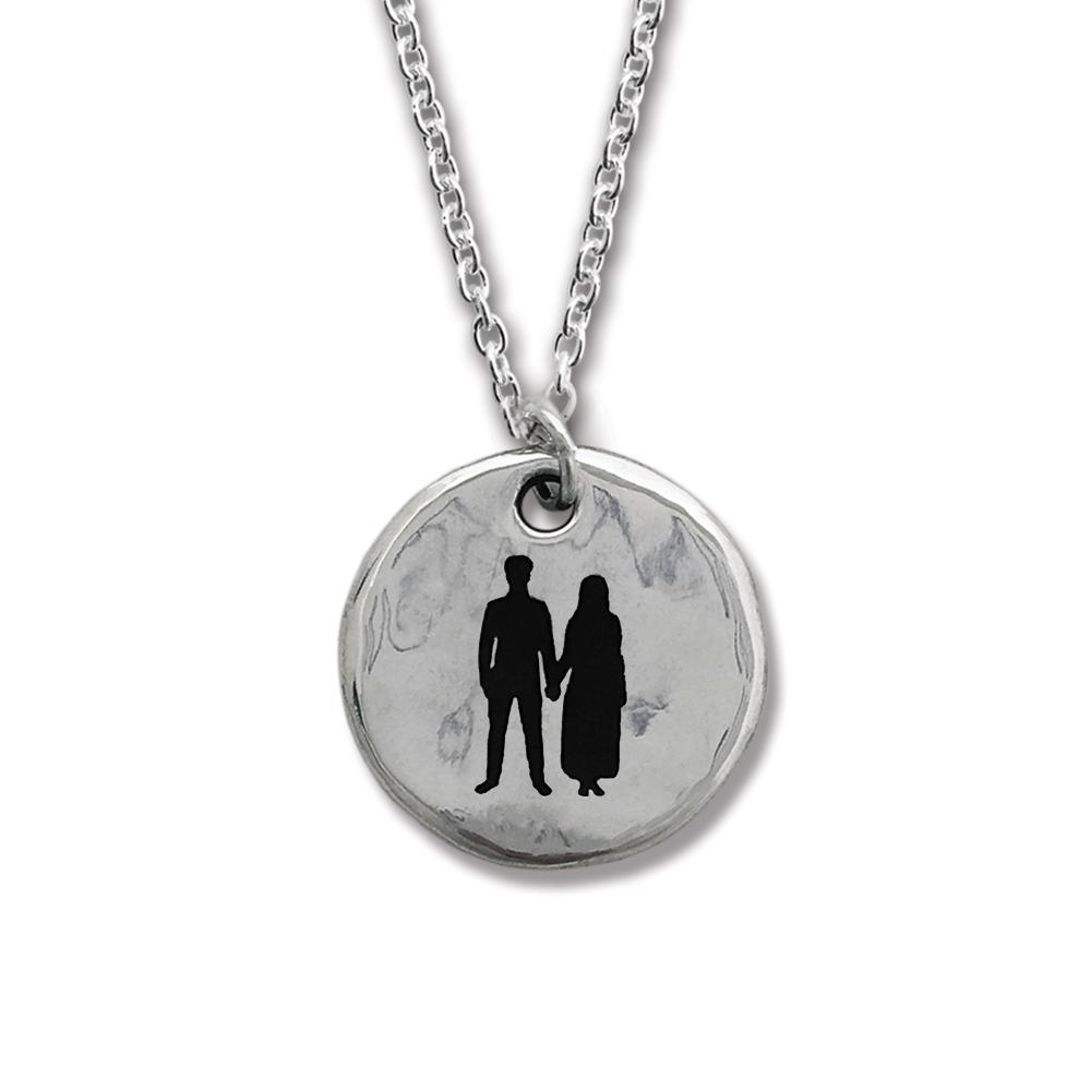 Songs of Experience Round Silver Pendant-U2