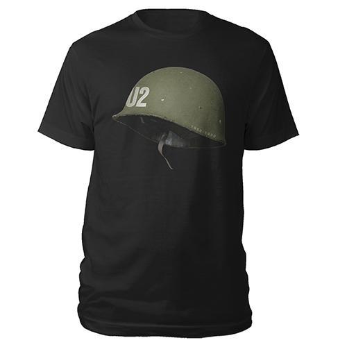 U2 Helmet Black T-shirt-U2
