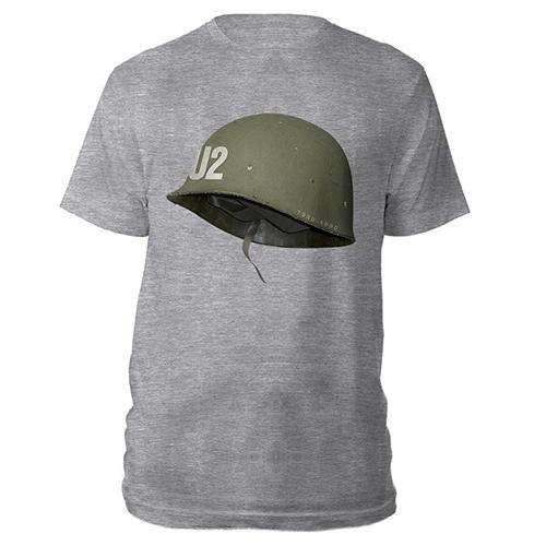 U2 Helmet Grey T-shirt-U2