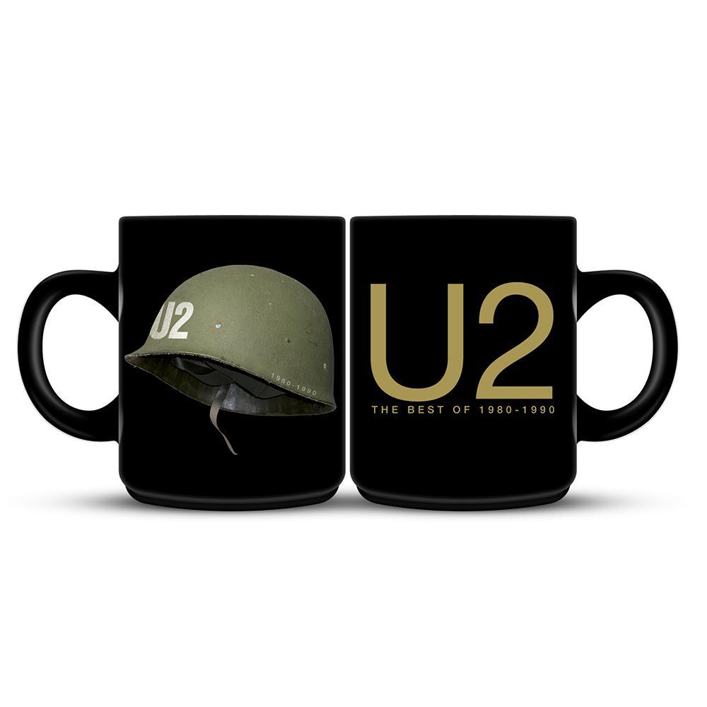 U2 The Best of 1980-1990 Black Mug