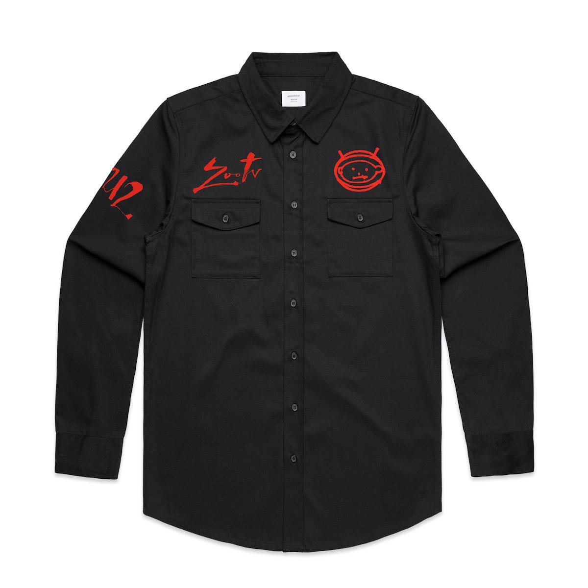 Zoo TV Military Style Shirt-U2