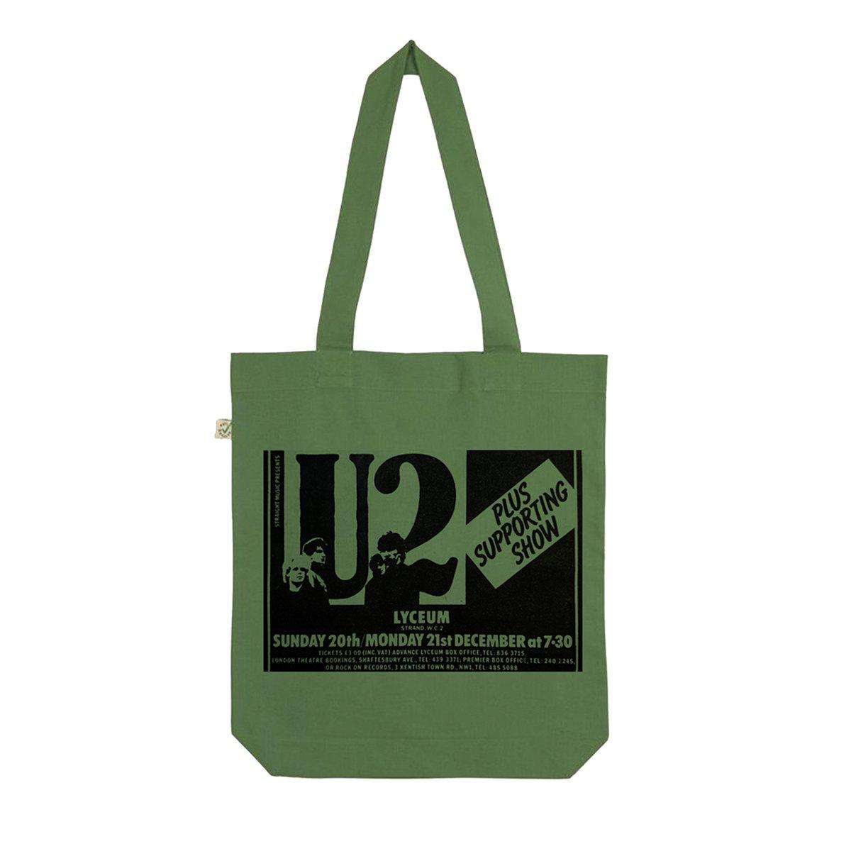 U2 October Lyceum Green Tote Bag-U2