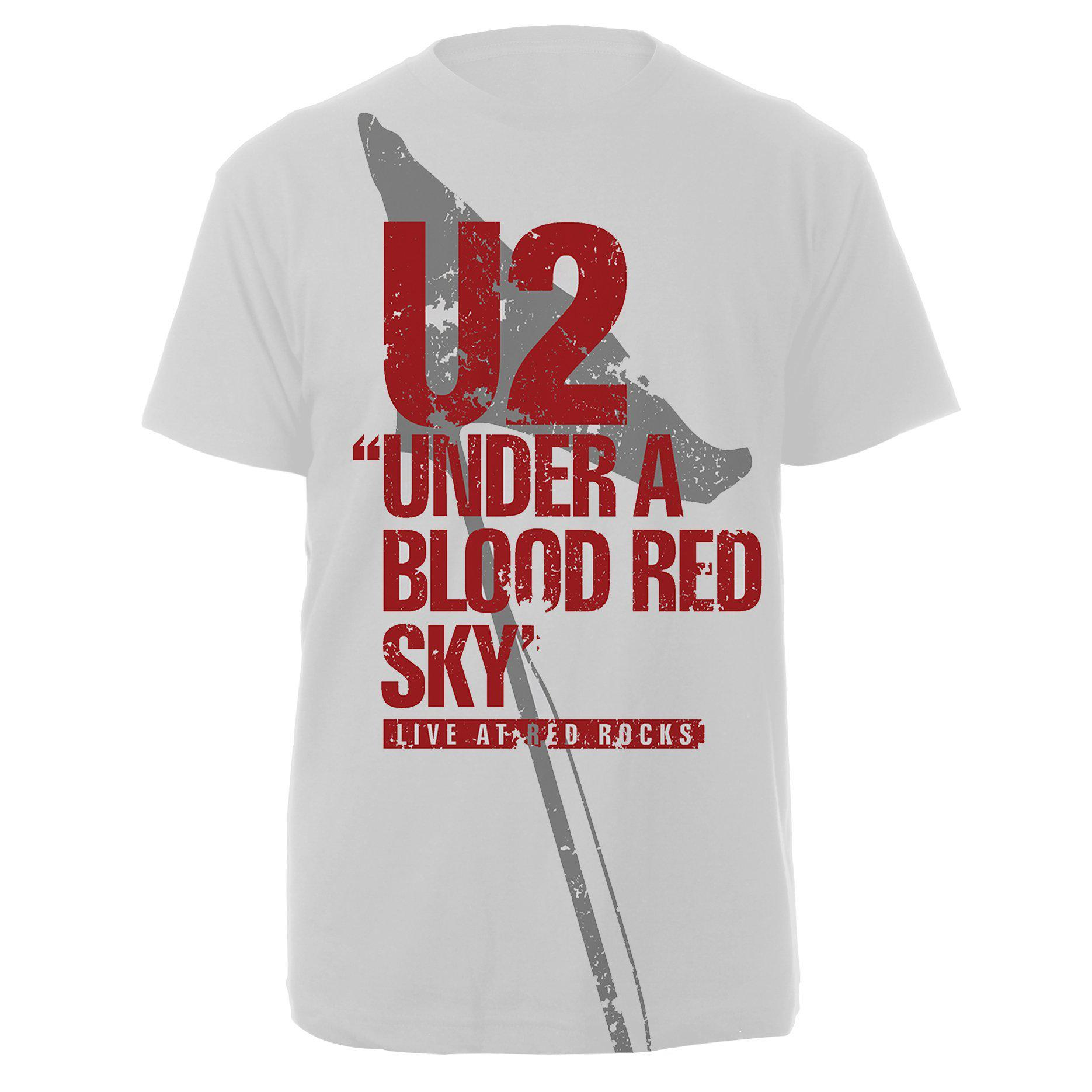 U2 Red Rocks White Tee-U2