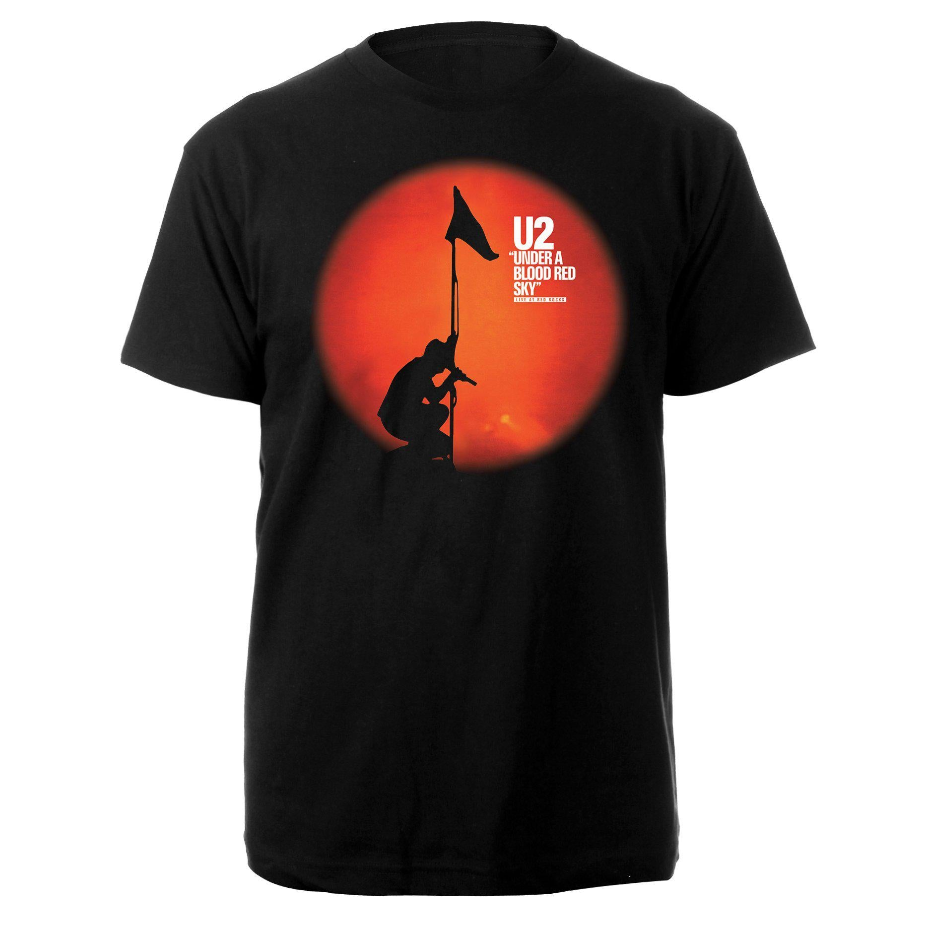 U2 Red Rocks Black Tee-U2