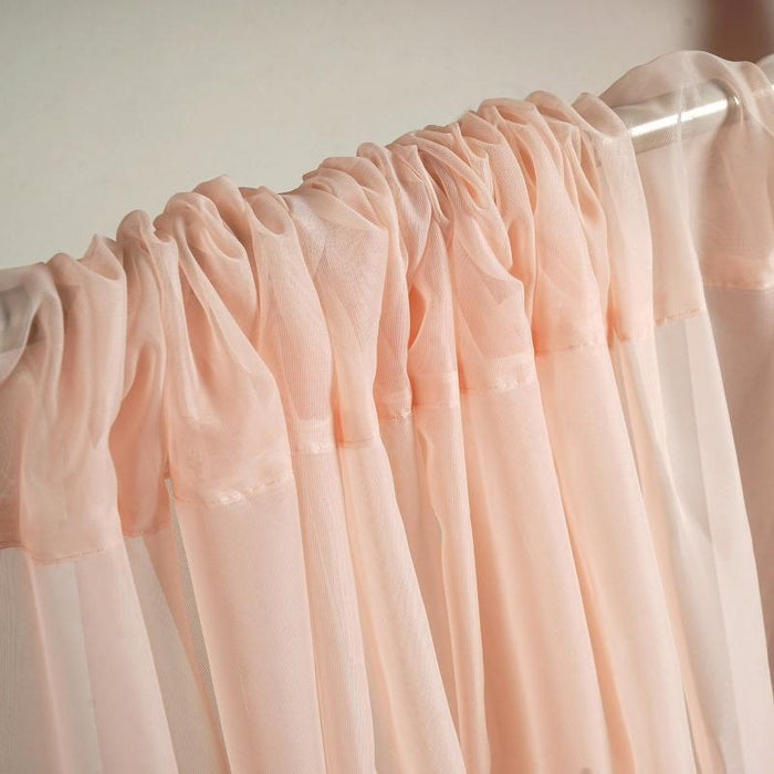 10 ft x 10 ft Sheer Voile Professional Backdrop Curtains Drapes Panels - Blush CUR_PANORGZ_046