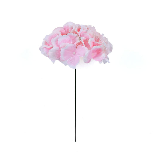 10 Silk Hydrangea Flowers Heads with Stems Wedding Arrangements - Pink ARTI_HYD03_PINK