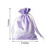 "12 pcs 5x7"" Satin Bags with Pull String - Lavender BAG_SB_5X7_LAV"