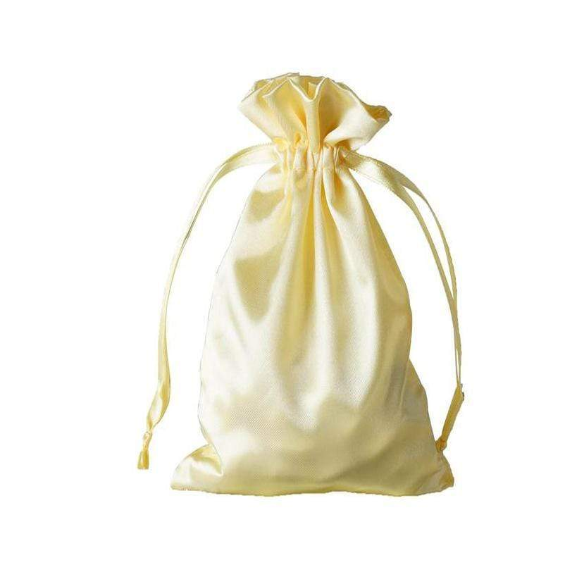 "12 pcs 6x9"" Satin Bags with Pull String - Gold BAG_SB_6X9_GOLD"