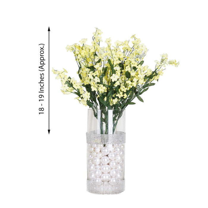 12 Silk Baby Breath Bushes - Yellow ARTI_BRTH_YEL