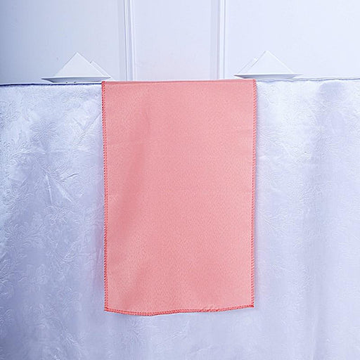 "12x108"" Polyester Table Top Runner Wedding Decorations - Coral RUN_POLY_CORL"