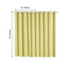 "2 pcs 52"" x 84"" Lattice Geometric Blackout Thermal Grommet Window Curtains Drapes Treatments - Yellow CUR_PANMIC04_5284_YEL"