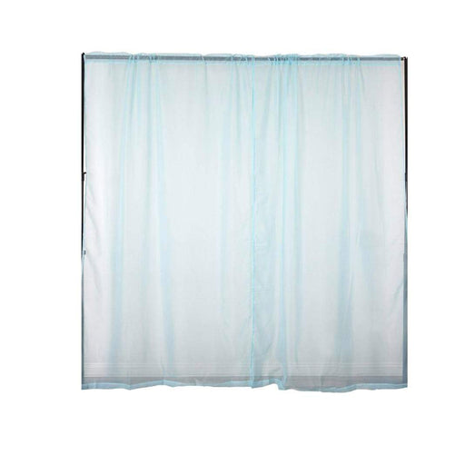 2 pcs 9 feet Sheer Organza Backdrops Curtains Drapes Panels - Blue CUR_PANORGZ04_52108_BLUE