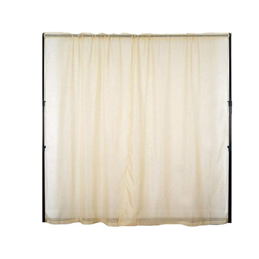 2 pcs 9 feet Sheer Organza Backdrops Curtains Drapes Panels - Champagne CUR_PANORGZ04_52108_CHMP