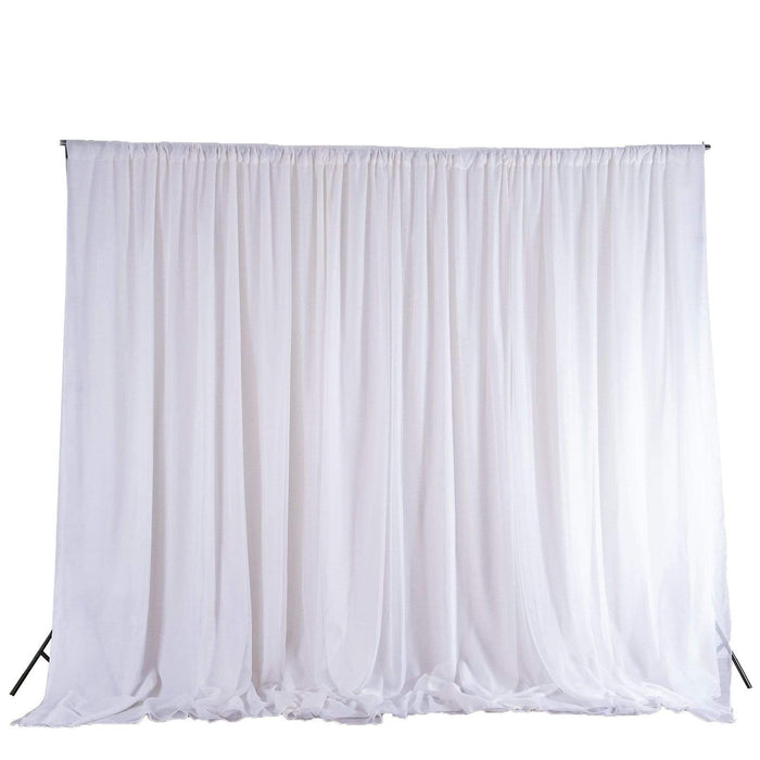 20 ft x 10 ft Chiffon Fabric Backdrop Curtain Photography Backdrop - White BKDP300_WHT