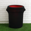 24-40 Gallons Spandex Stretch Round Trash Bin Cover - Black TAB_SPX_TRSB01_BLK