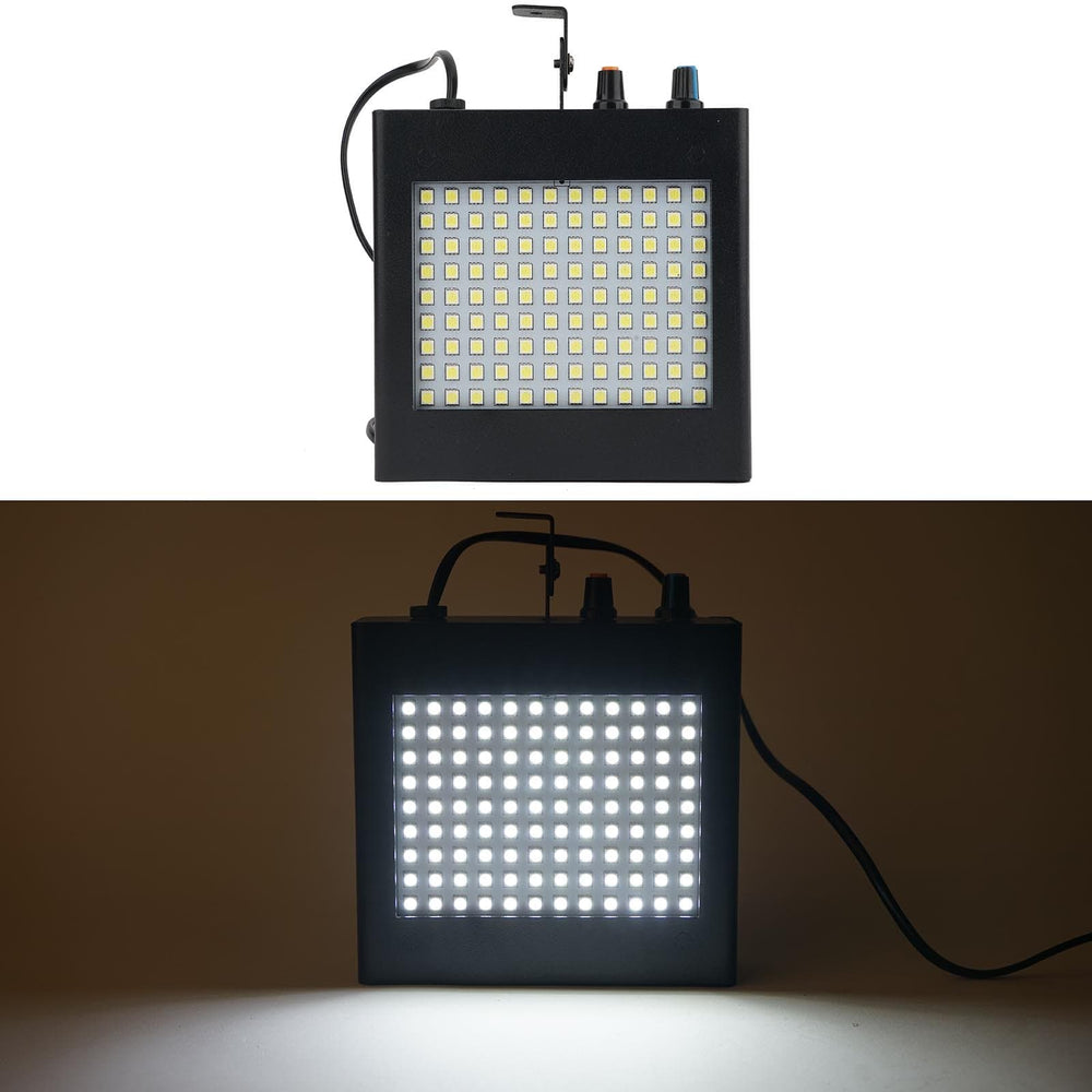 25 Watt 108 LED Strobe Dual Mode Flash Light with Speed Control - White LED_SPT17