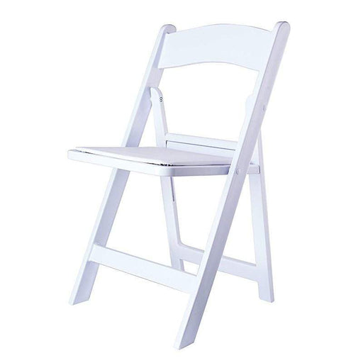 "31"" tall Folding Chair with Vinyl Padded Seat -  White FURN_FOLD01_WHT"