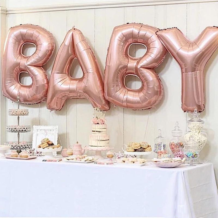 "40"" Mylar Foil Balloon - Rose Gold Letter P BLOON_40RG_P"
