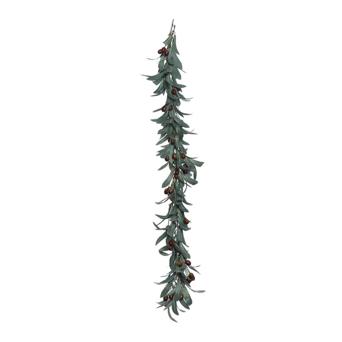 "43"" long Artificial Olives Foliage Garlands - Green with Brown ARTI_GLND_GRN010"