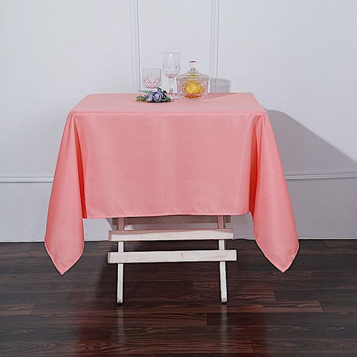 "54"" x 54"" Polyester Square Tablecloth - Coral TAB_SQUR_54_CORL_POLY"