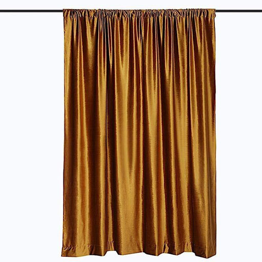 8 ft x 8 ft Premium Velvet Backdrop Curtain - Gold BKDP_VEL_8x8_GOLD