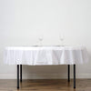 "84"" Disposable Round Plastic Table Cover Tablecloth - White TAB_PVC_R01_WHT"