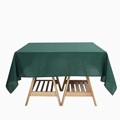 "90"" x 90"" Polyester Square Tablecloth - Hunter Green TAB_SQUR_90_HUNT_POLY"